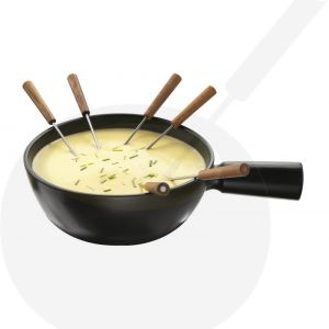 Cheese Fondue Pot - black Boska