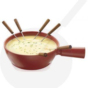 Cheese fondue Pot - Caquelon - red Boska