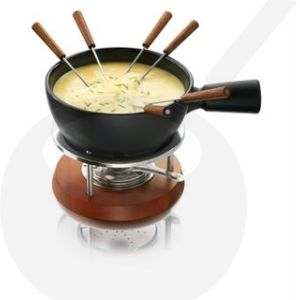 Boska cheese fondue set Nero