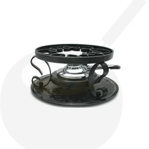 Iron base for fondue pot