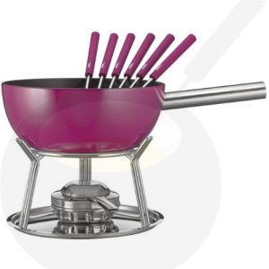 Cheese Fondue Set Spring Alu induction Purple