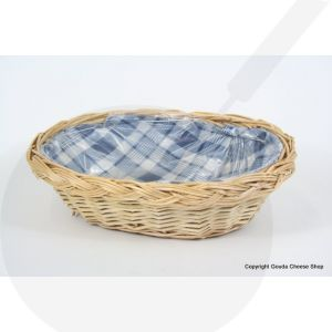 Wicker basket Blocky Blue - 27 x 20 x 8 cm