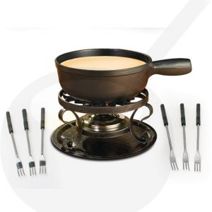 Swissmar Lugano Black - Cheese fondue set