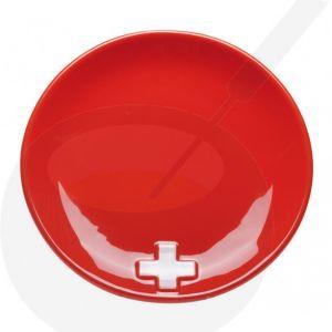 Cheese fondue plate - Swiss Red X