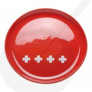 Cheese fondue plate - Swiss Red XXX