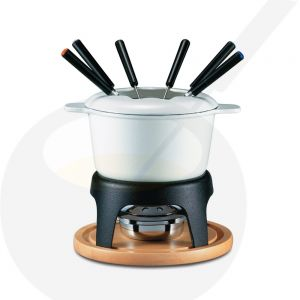Fondue Pot Swissmar Sierra Cast Iron White