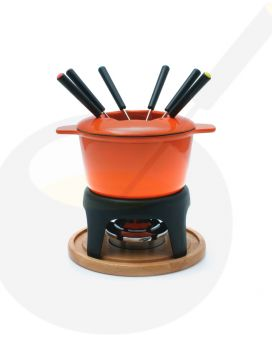 Fondue Pot Swissmar Sierra Cast Iron Orange | Buy Online