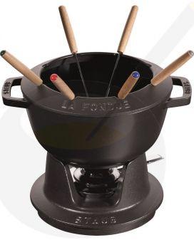 Staub fondue set - Black - 20cm