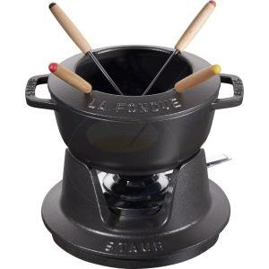 Staub fondue set - Black - 16cm