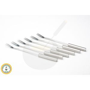 Fondue forks stainless steel set of 6
