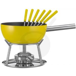 Cheese Fondue Set Spring Alu induction Yellow
