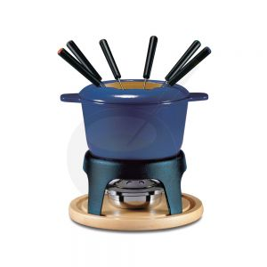 Fondue Pot Swissmar Sierra Cast Iron Deep Blue