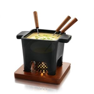 Tapas Chocolate Fondue set - Cheese fondue set - Black - 400gram